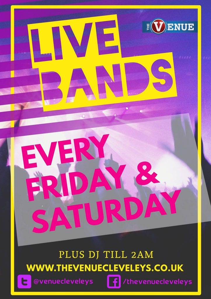 Live bands at The Venue, Cleveleys
