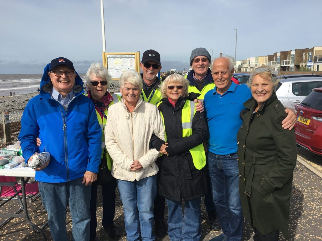 Beach Cleaning with the Rossall Beach Group