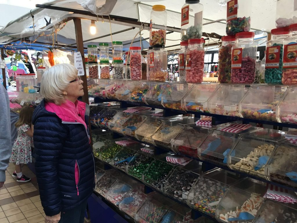 Caught staring at sweeties when we went for a mooch at Fleetwood market