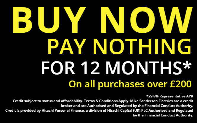 Buy now, pay later at Mike Sanderson Electricals, Fleetwood