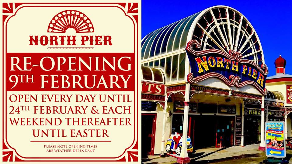 Blackpool North Pier - Open at Weekends!