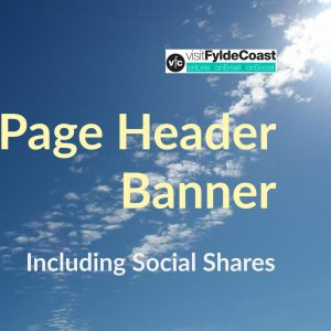 Page header banner with Visit Fylde Coast