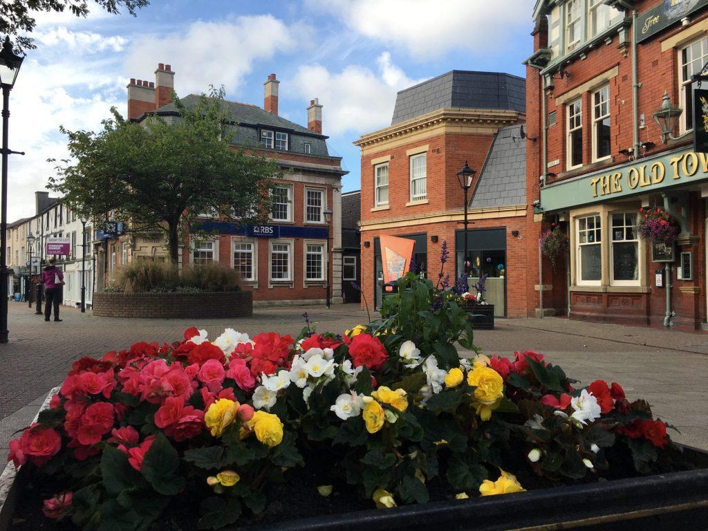 Poulton town centre and market square. Fylde Coast town centres