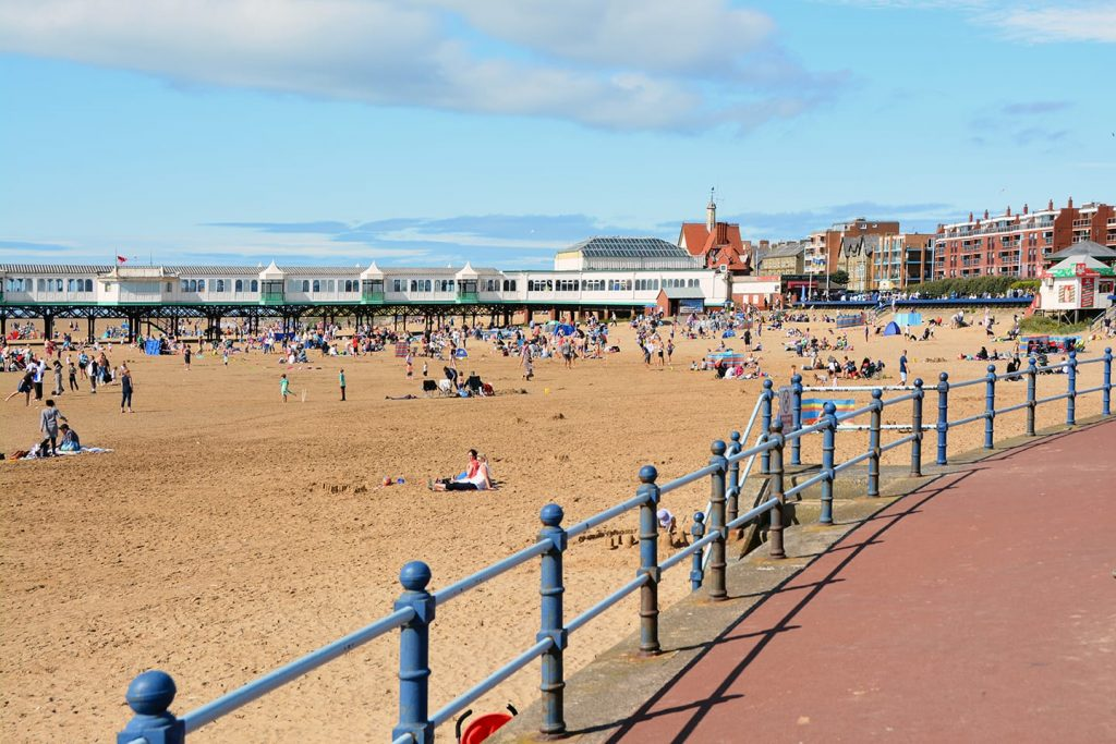 Enjoy a family day out on the beach - this is St Annes Beach
