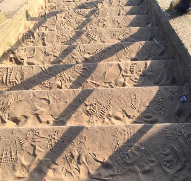 Footprints in the sand by Sue Rowley - your Fylde Coast photos