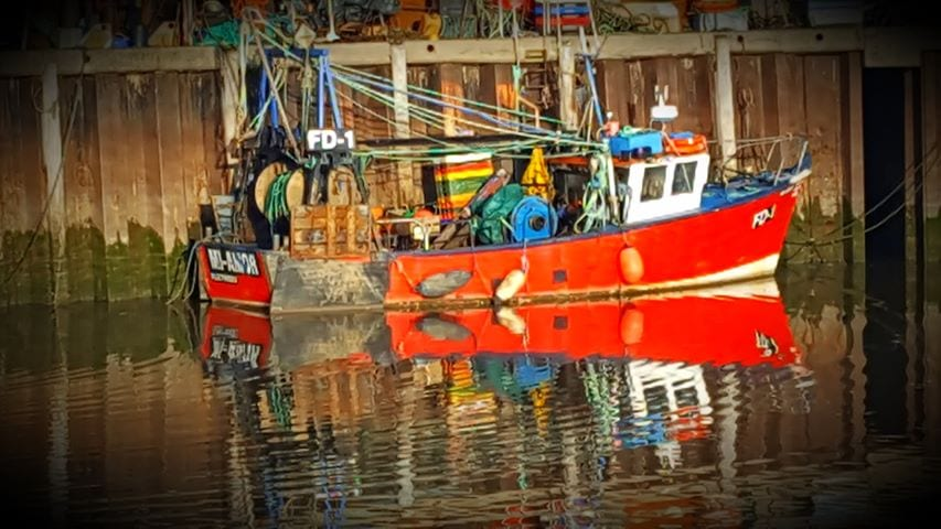 Fishing boats at Fleetwood Dock. Allan Macfarlane