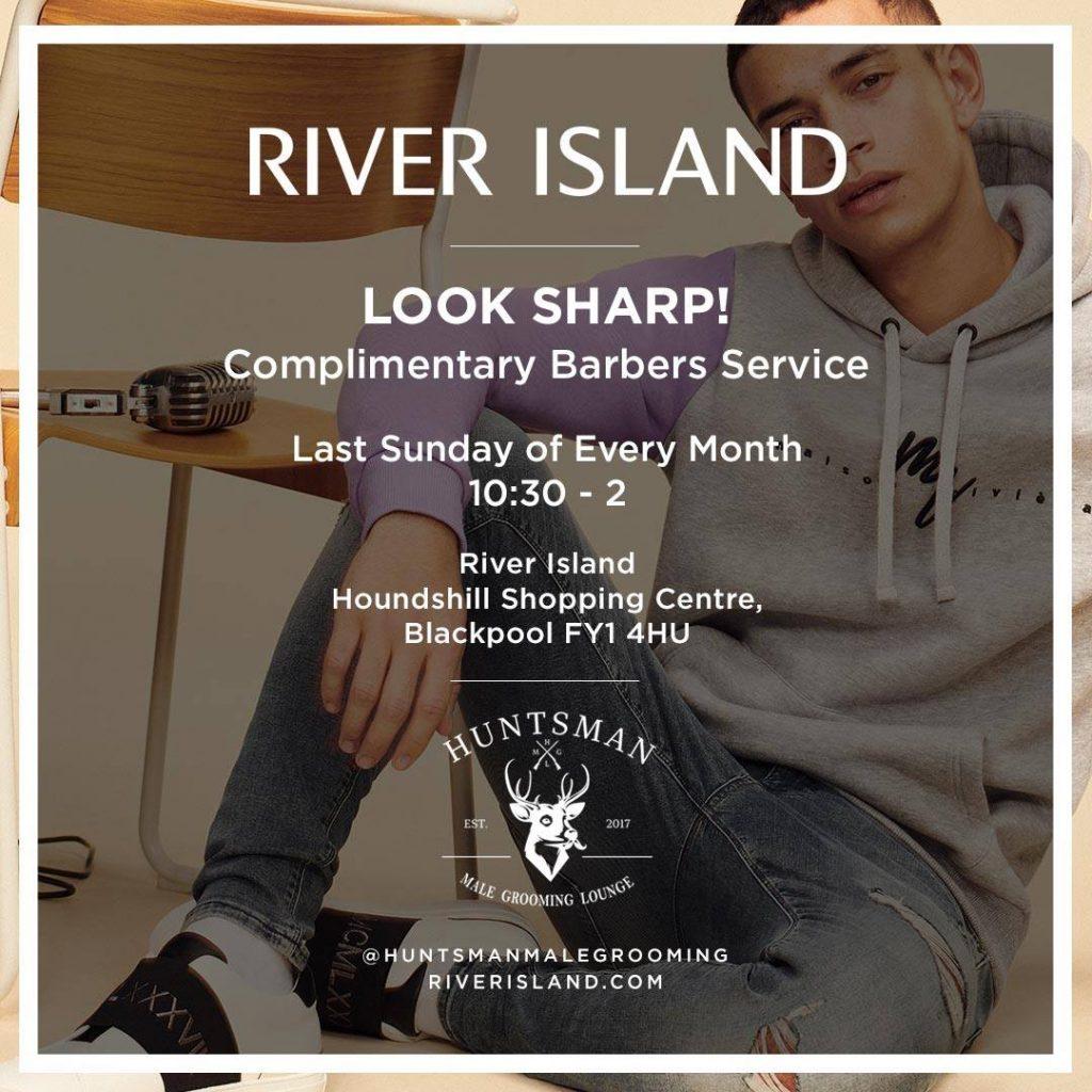 Free haircuts at River Island Blackpool