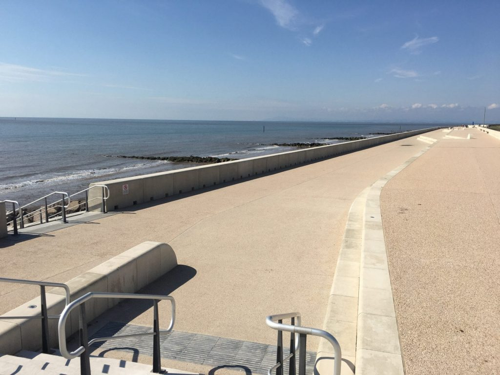 The recently completed £64m Rossall Coastal Defence Scheme at Fleetwood