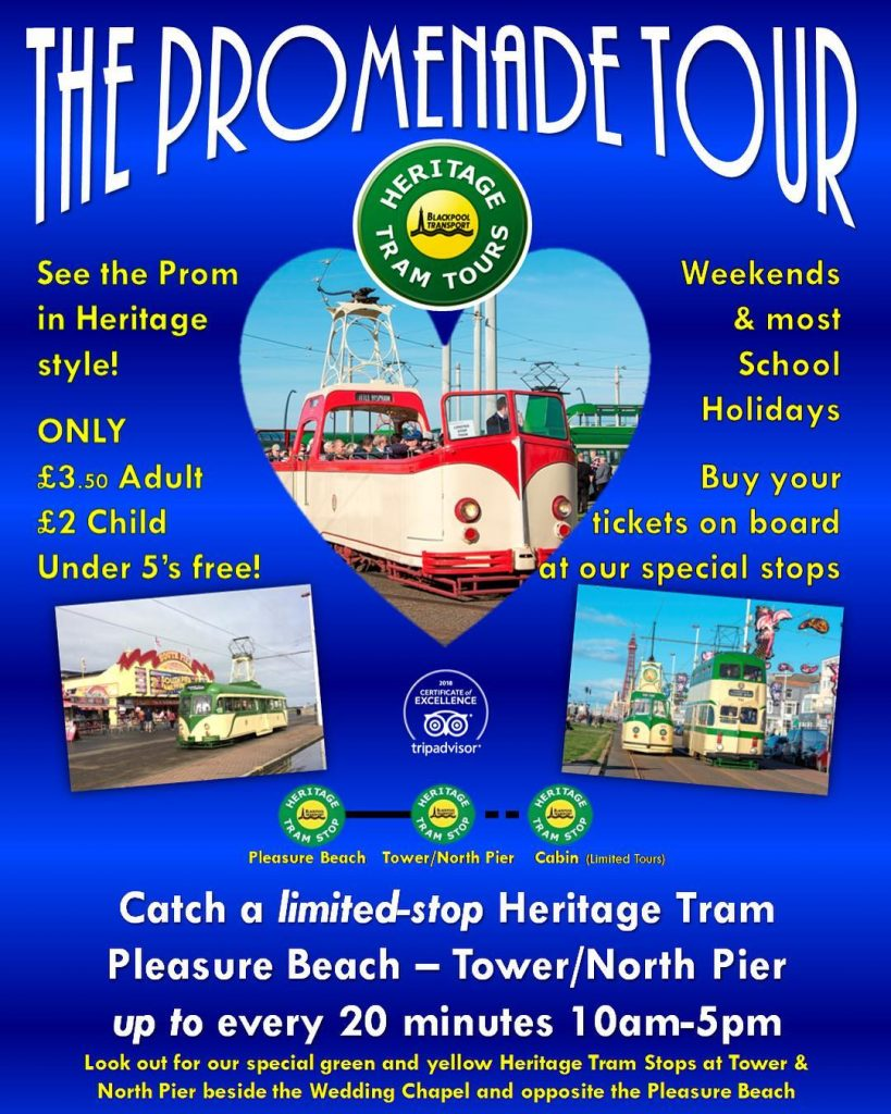 Weekend tours with Blackpool Heritage Trams