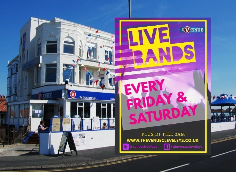 Live bands at The Venue Cleveleys