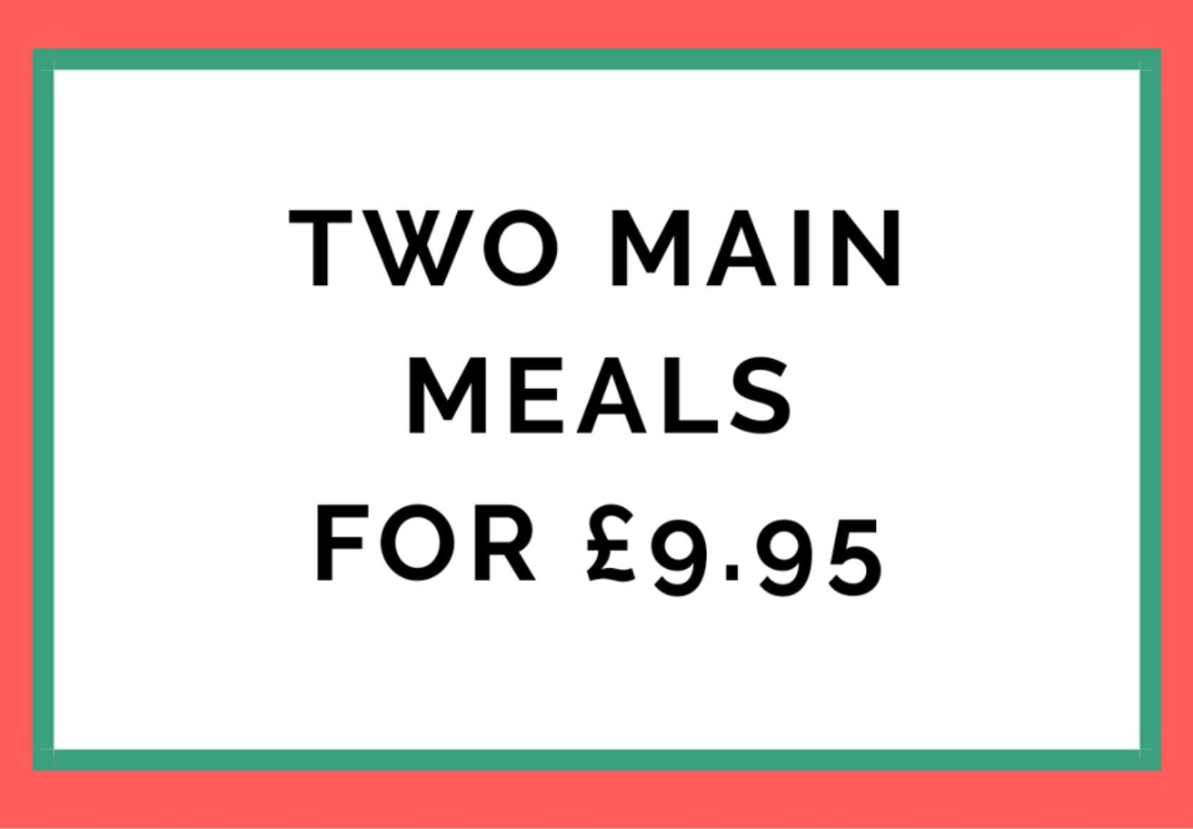 Two meals for £9.95 at the Strawberry Gardens Fleetwood