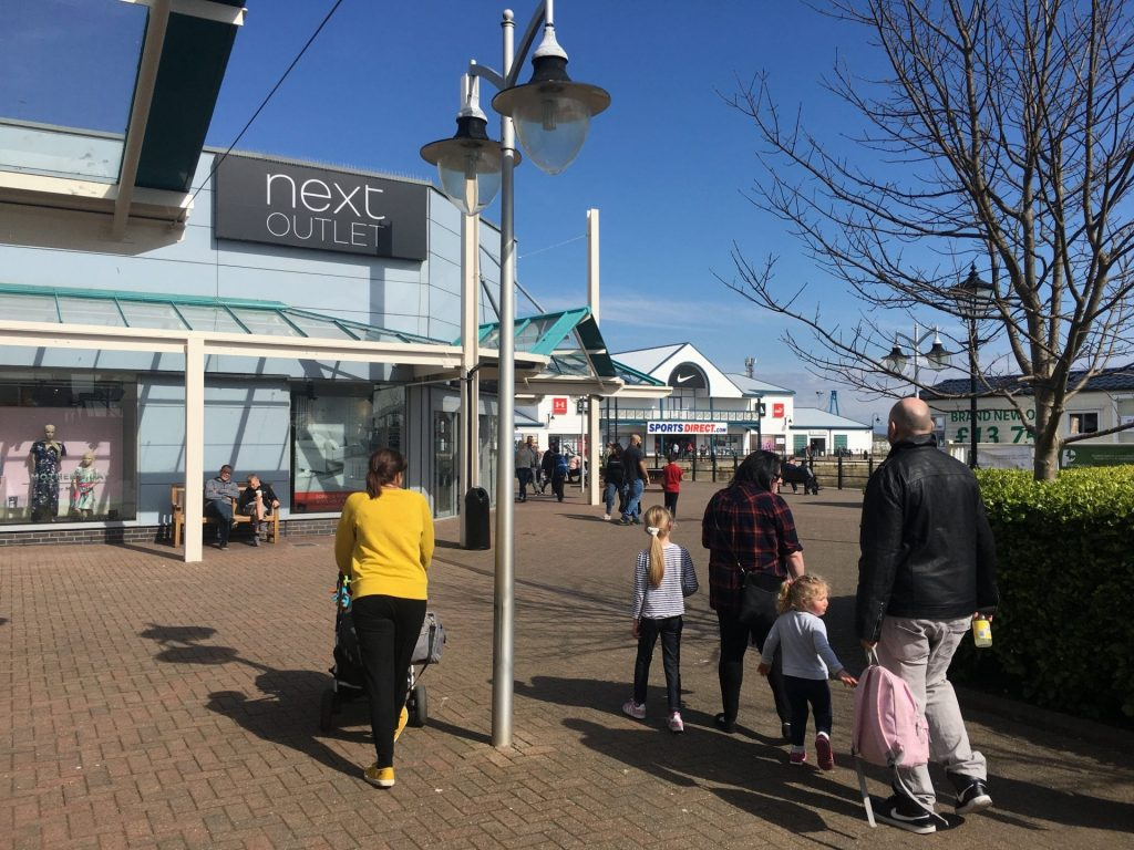 Outlet shopping at Affinity Lancashire, Fleetwood
