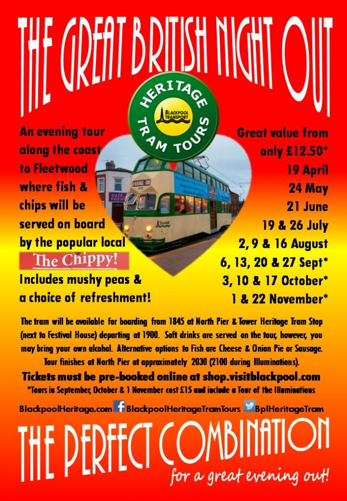 The Great British Night Out with Blackpool Heritage Tram Tours