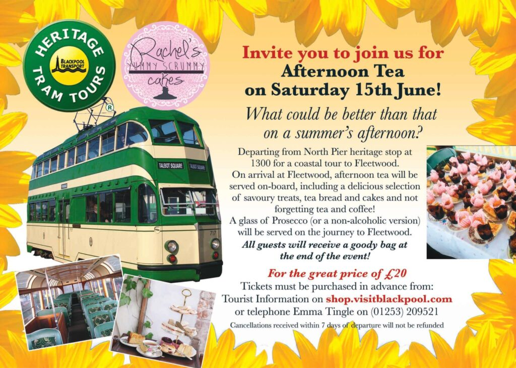 Afternoon Tea and a Blackpool Heritage Tram Tour