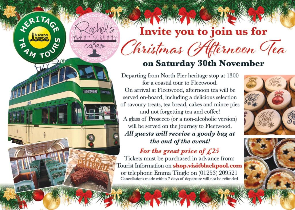 Christmas Afternoon Tea and a Blackpool Heritage Tram Tour