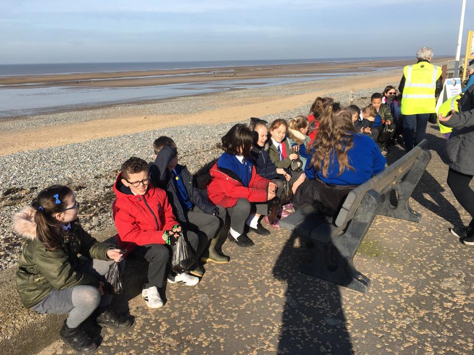 Children from Manor Beach School visit Rossall Beach