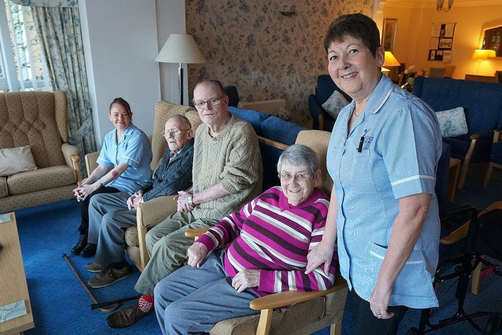Residents and staff at Links View, St Annes