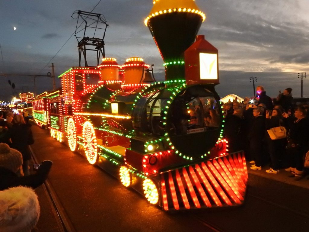 Illuminated Tram Parade 2019. Photo: Barrie C Woods