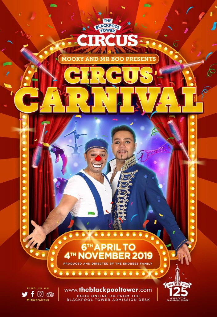 The Blackpool Tower Circus Carnival - new season show for 2019