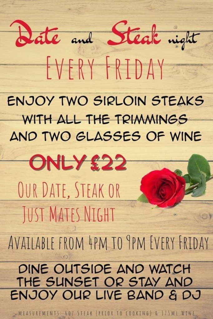 Steak and Date night at The Venue Cleveleys