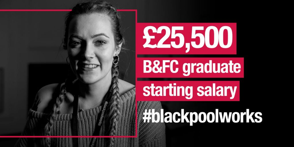 Starting salaries of £25,500 for Blackpool and the Fylde College graduates