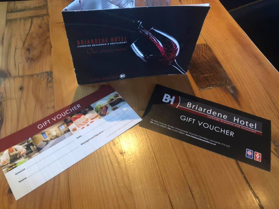 Gift Vouchers from the Briardene Hotel
