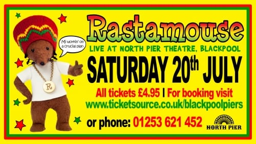Rastamouse at Blackpool North Pier