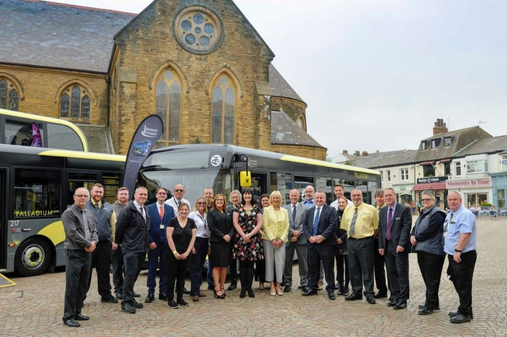 Launch of 15 new Palladium buses in Blackpool