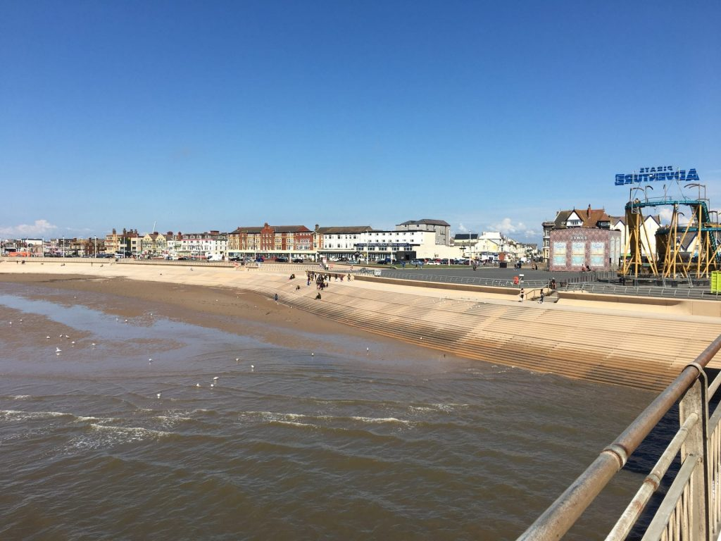 View along Blackpool seafront from South Pier