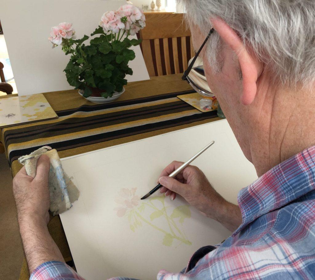Derek painting