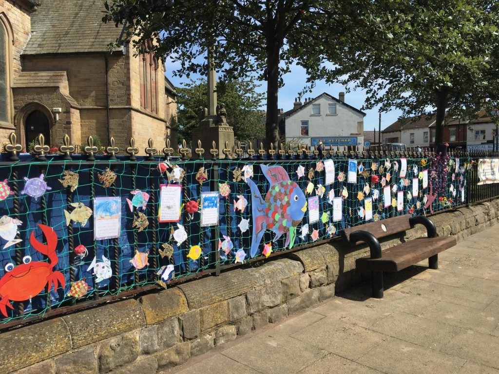 2019 Fleetwood In Bloom display at St Peter's Church