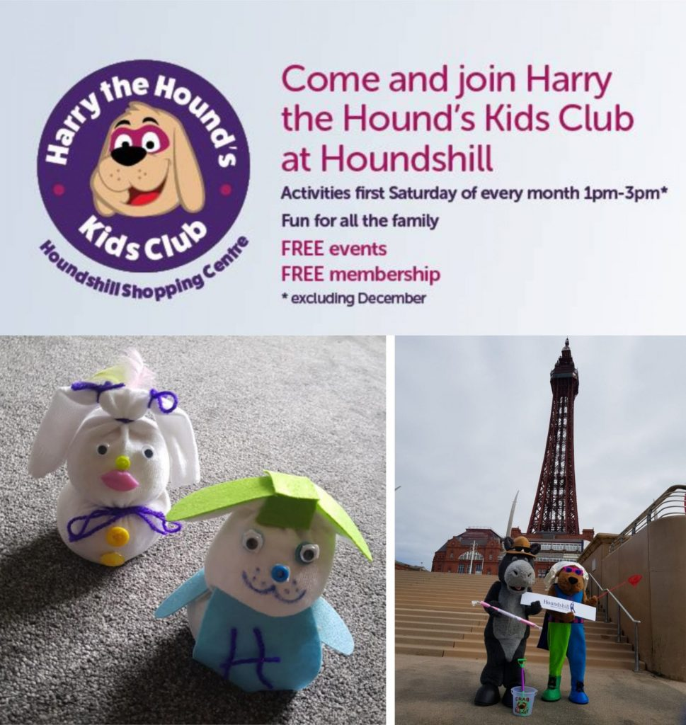 Harry the Hounds Kids Club at Houndshill Shopping Centre, August 2019