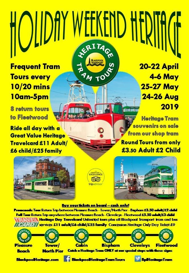 August Bank Holiday Weekend with Heritage Tram Tours