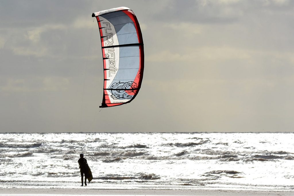 Kitesurfing at Cleveleys