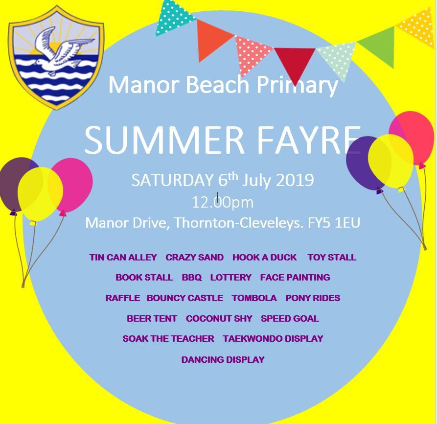 Manor Beach Primary School Summer Fayre 2019 • Visit Fylde Coast