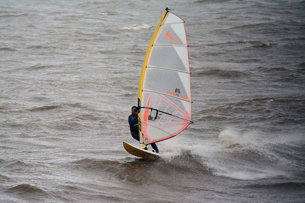 Windsurfing at Rossall Beach