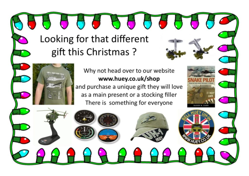 Christmas gifts with Huey Helicopter