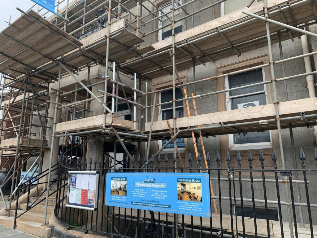 Good progress being made with the renovation of the exterior of Fleetwood Museum. July 2019