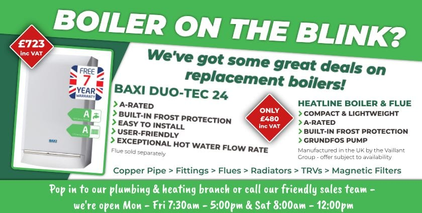 Boilers at Builders Supplies
