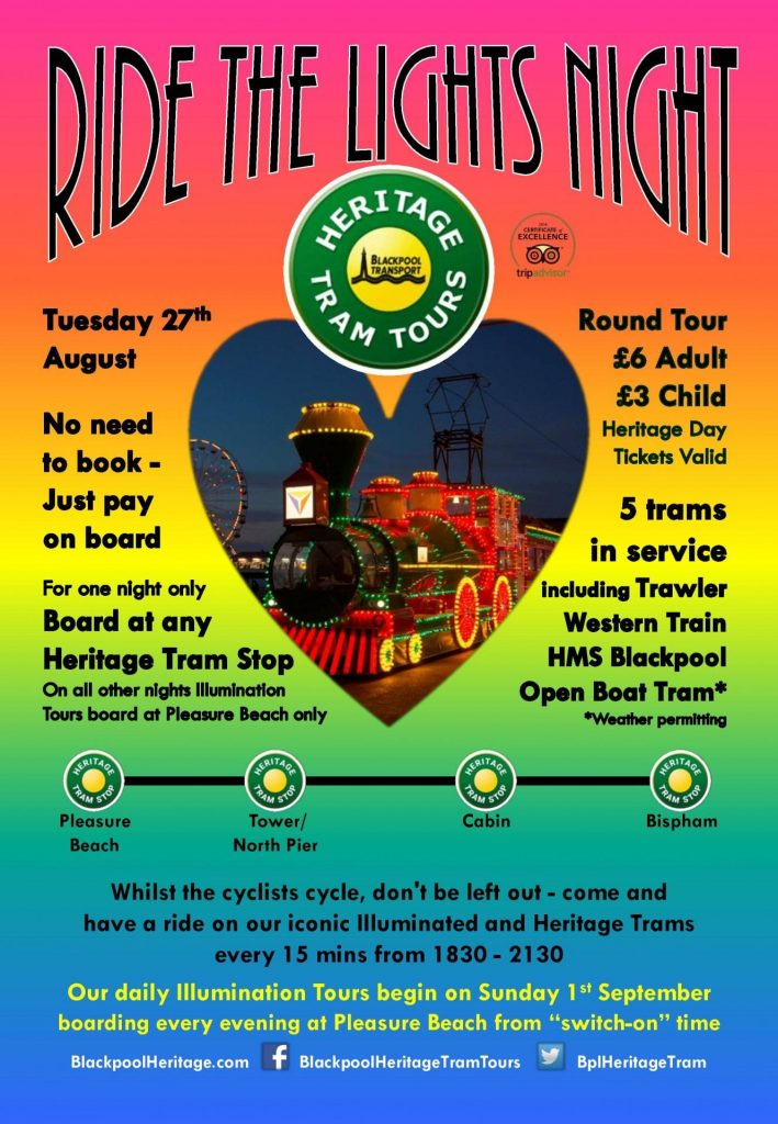 Ride the Lights Night 2019 with Blackpool Heritage Trams
