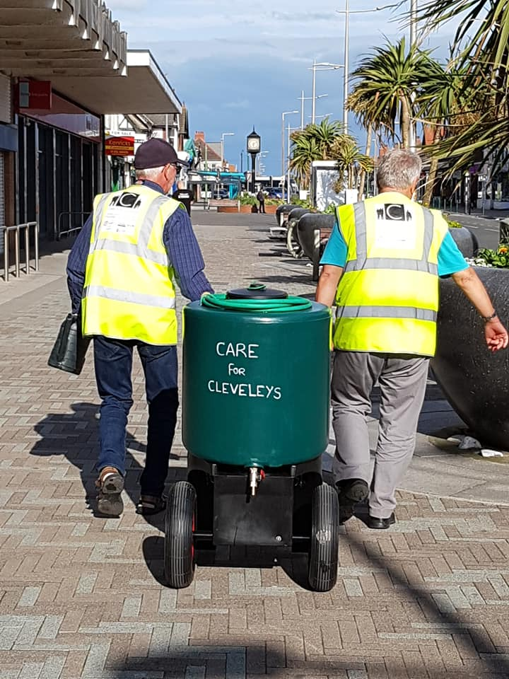 Cleveleys is Blooming because volunteers have worked hard planting and watering