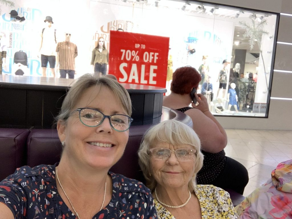 Shopping in sunshine and showers