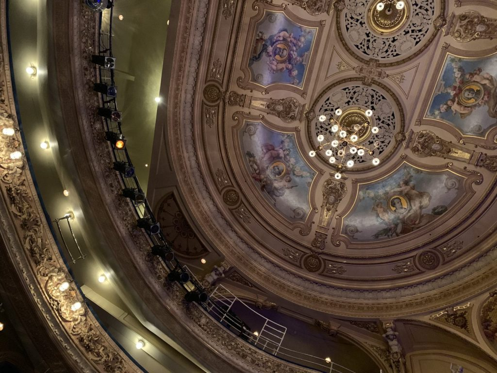 Beautiful ceiling in the Grand Theatre Blackpool