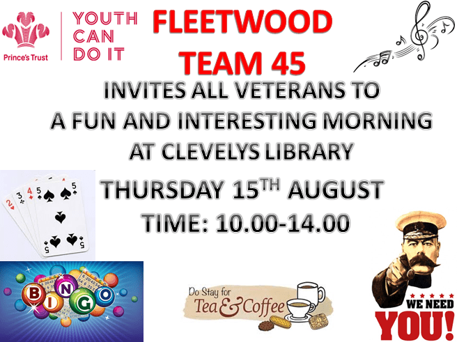 Veteran's Morning with Prince's Trust Fleetwood Team 45