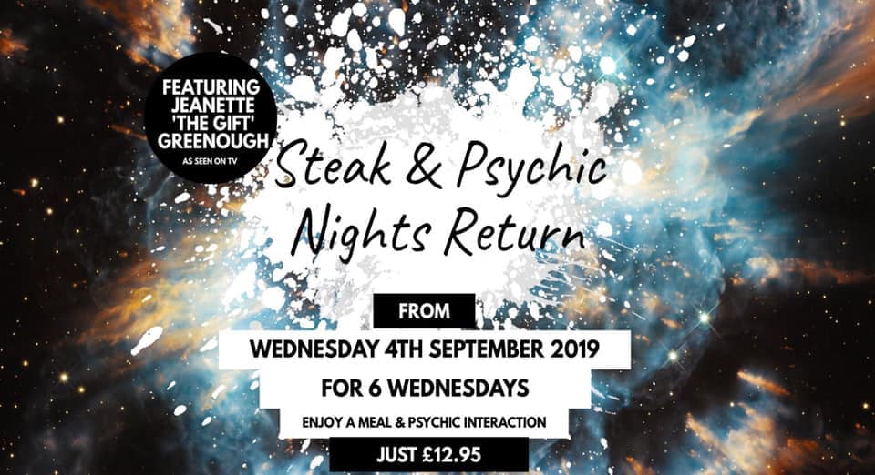 Steak and Psychic Nights at The Venue Cleveleys