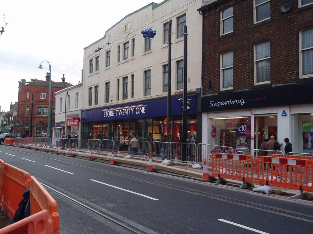 Store Twenty One when it opened in November 2010