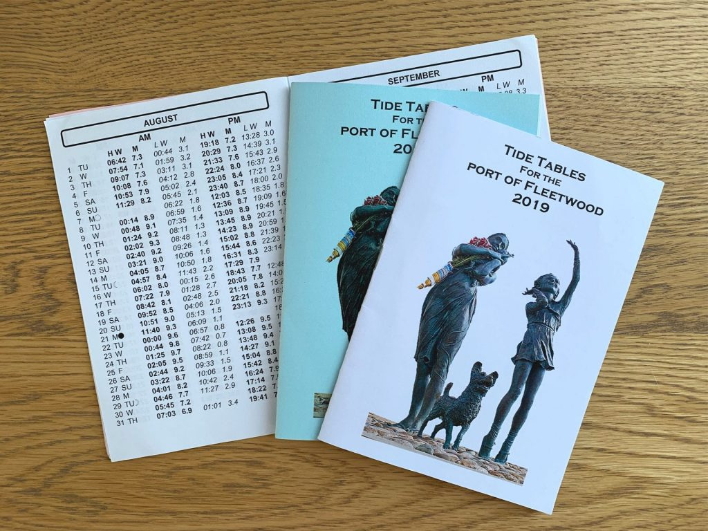 Tide table booklets