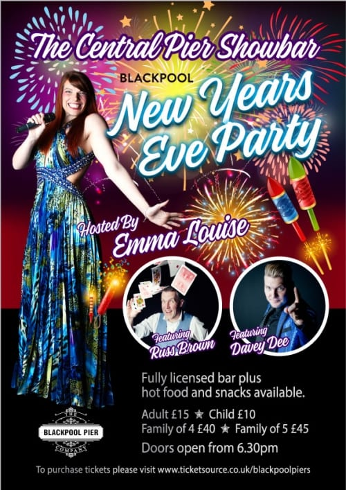 New Years Eve Party at Central Pier Showbar