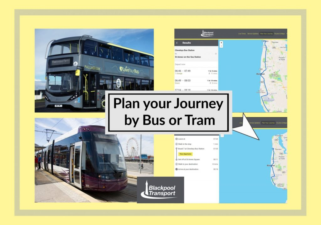 Plan your journey by bus or tram with Blackpool Transport