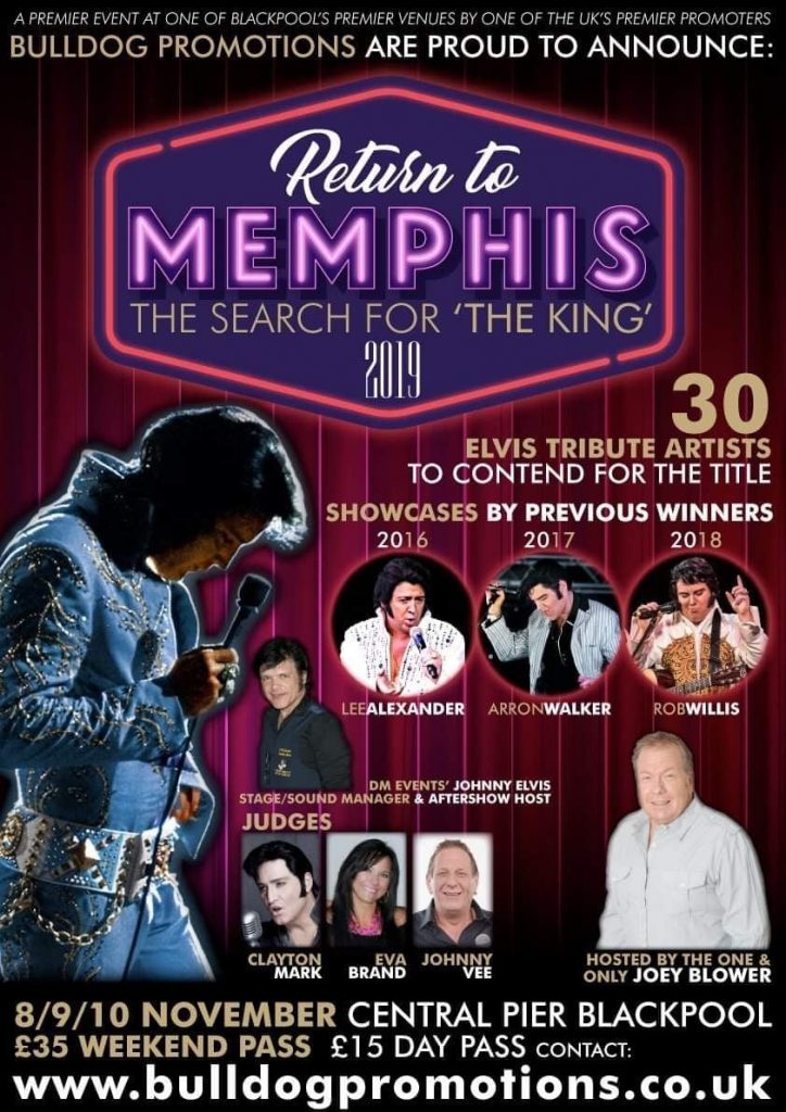 Return to Memphis at Central Pier Blackpool